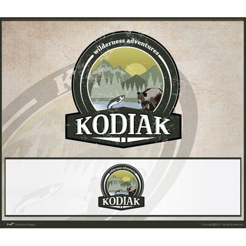 Fish logo with the title 'Kodiak Wilderness Adventures'