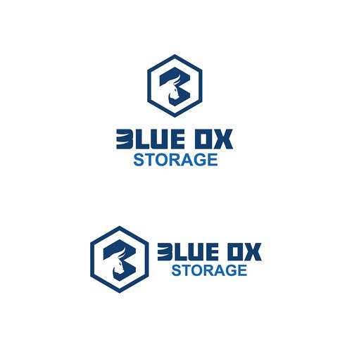 Ox logo with the title 'Blue Ox Storage'