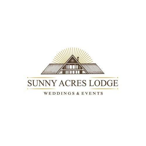Village logo with the title 'Sunny Acres Lodge'