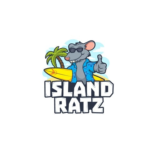 Vacation logo with the title 'Island Ratz'