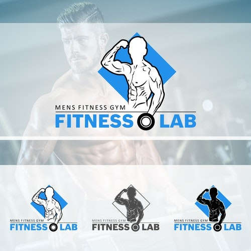 Bodybuilding logo with the title 'Masculine Mens Fitness Gym Logo Design'