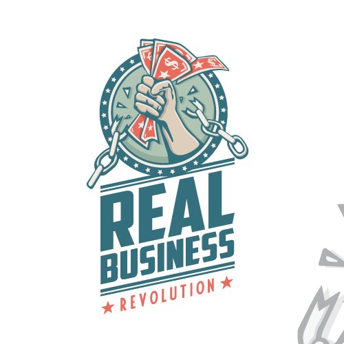 """Business logo with the title 'Huge blog with 3 million+ readers is launching a podcast...your """"revolutionary"""" logo needed!'"""