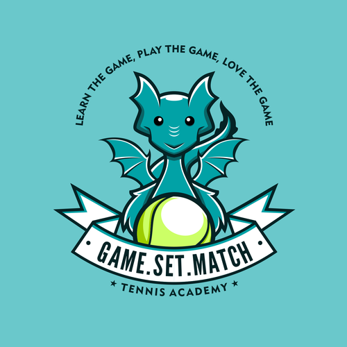 Character logo with the title 'Funny Dragon Character Logo'