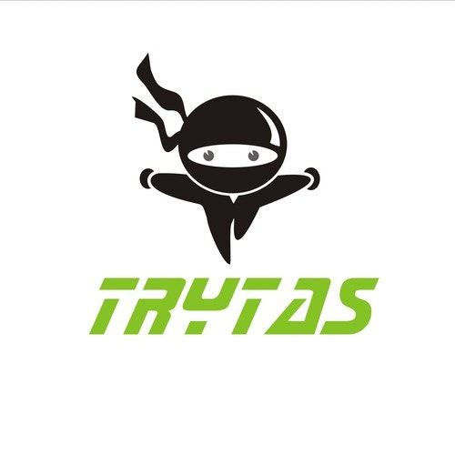 Energetic logo with the title 'Simple Ninja concept for trytas'