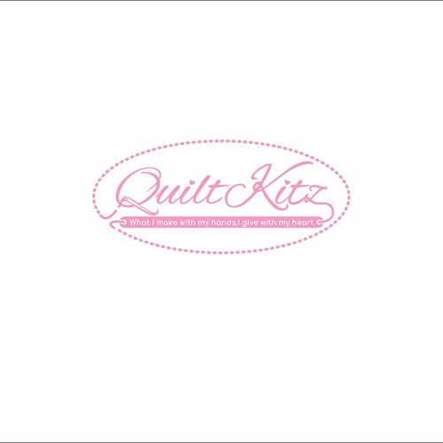 Fabric logo with the title 'quiltkitz'