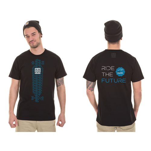 Skateboard t-shirt with the title 'T-shirt for the World's lightest electric vehicle.'