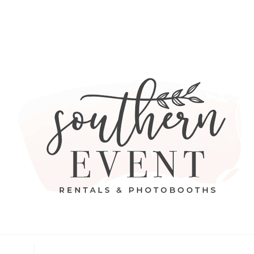 Rose gold logo with the title 'Event Rental Company/PhotoBooth needs sleek and elegant design!'