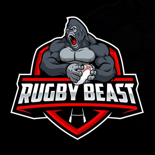 Beast logo with the title 'Rugby Beast Logo'