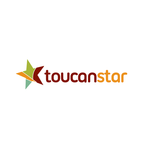 Multicolor logo with the title 'ToucanStar needs a new logo'