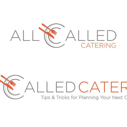 Plate logo with the title 'All Called Catering Logo'
