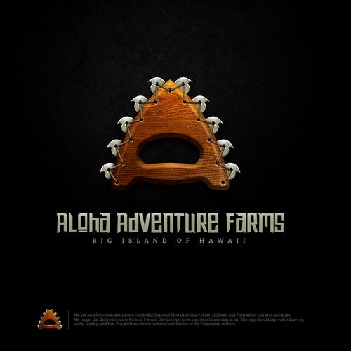 Hawaii logo with the title 'Aloha Adventure Farms'