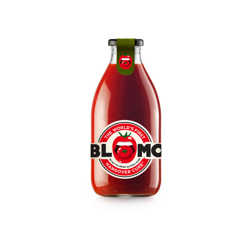 Lip logo with the title 'Logo concept for BLOMO'