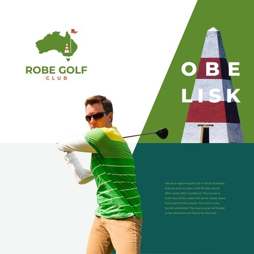 Grass logo with the title ' Robe Golf Club'