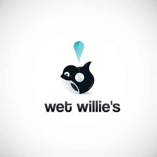 Carwash logo with the title 'Wet Willie's Logo Design'