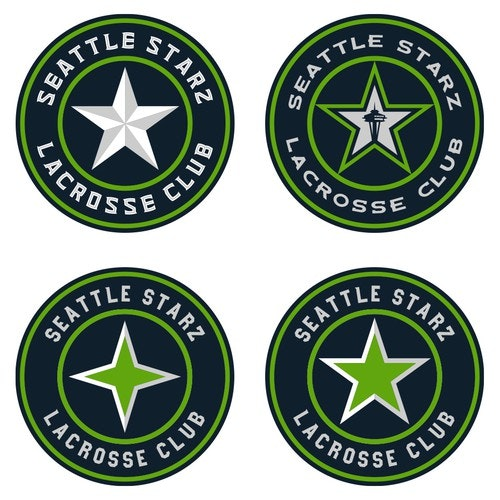 Lacrosse logo with the title 'Stars Emblems'