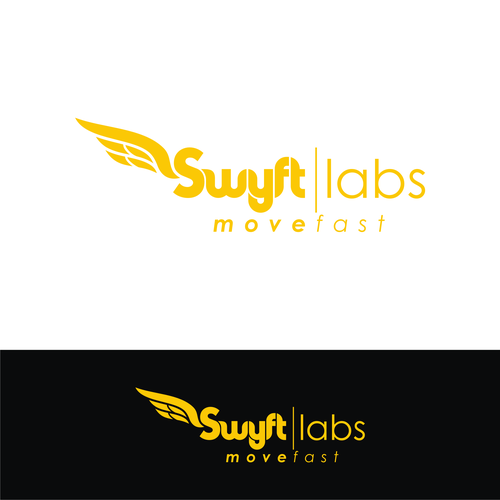 Wing logo with the title 'SWYFT LABS LOGO'