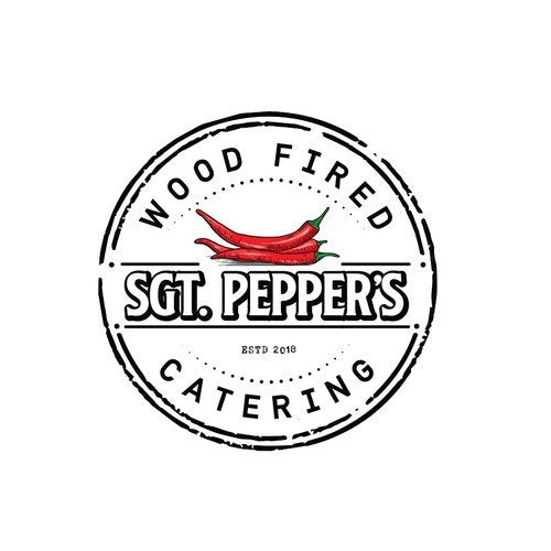 Catering logo with the title 'Sgt. Pepper's'