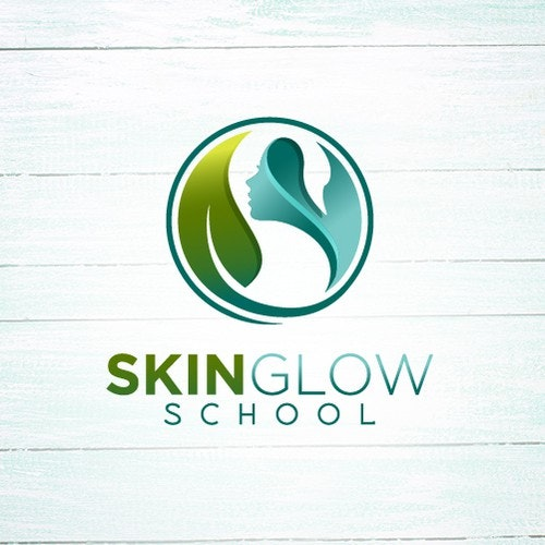 Girl logo with the title 'Elegant Logo for an Online School for Natural Skin Care'
