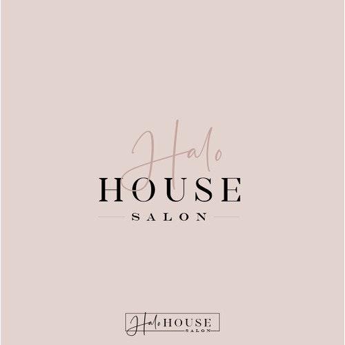 Handwritten logo with the title 'Modern,Sassy Logo for a hair salon'