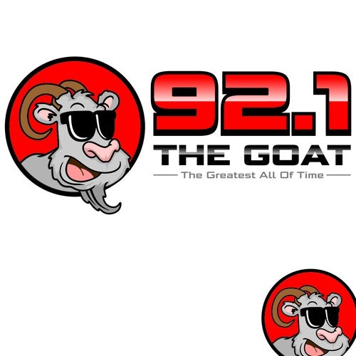 Radio station logo with the title 'The Goat'