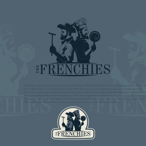 Truck logo with the title 'The Frenchies'