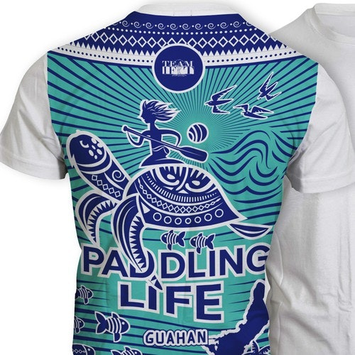 Fish t-shirt with the title 'T-shirt design for Outrigger Paddling Team'