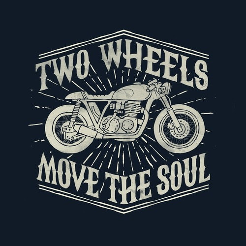 Biker t-shirt with the title 'caferacer'