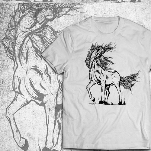 Horse t-shirt with the title 'Design T-Shirt Horse'