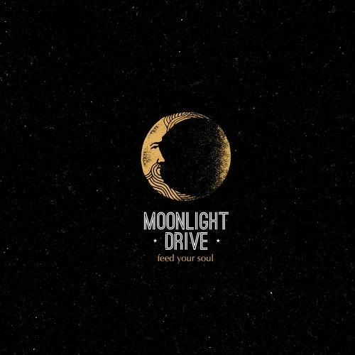 Texture logo with the title 'Moon Creative Rough Concept'