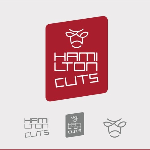 Cut logo with the title 'HamiltonCuts Instagram Logo'