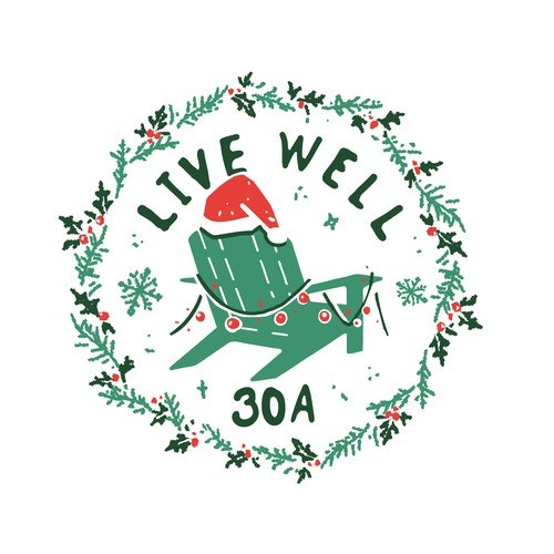 T-shirt with the title 'LIVE WELL holiday tshirt design '