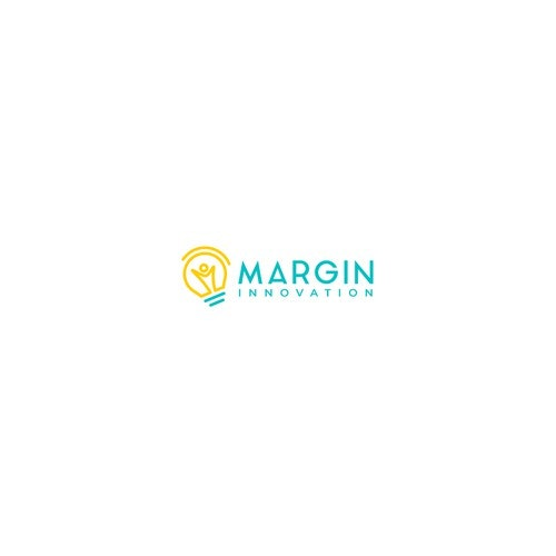 Light bulb logo with the title 'Logo Design for Margin Innovation'