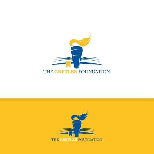 Torch logo with the title 'Logo for foundation supporting education and healthcare'