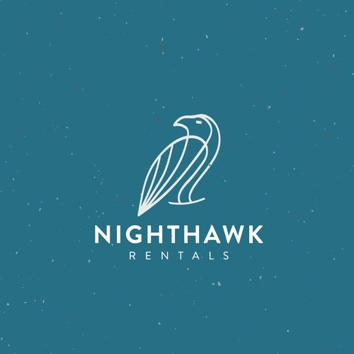Hawk logo with the title 'Logo for rental company'
