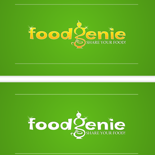 Lamp logo with the title 'logo for FoodGenie.com'