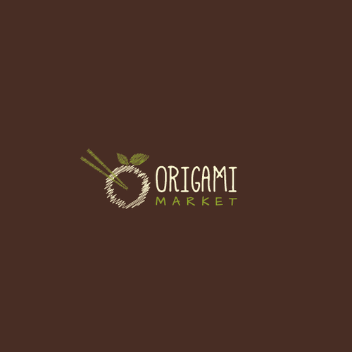 Asian logo with the title 'Origami Market'