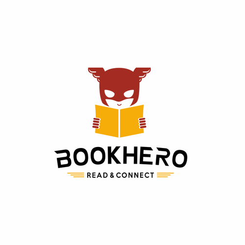 Hero logo with the title 'Logo design for international book sharing platform'