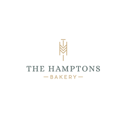 H logo with the title 'Logo for a bakery'