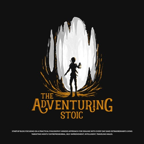 Cave logo with the title 'The Adventuring Stoic'
