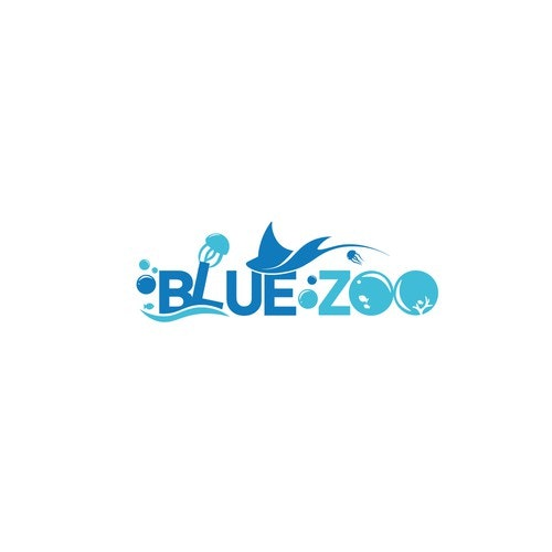 Jellyfish logo with the title 'Blue Zoo '