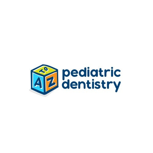 Cube logo with the title 'Pediatric Dentistry Logo'