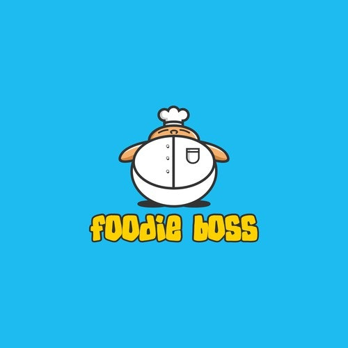 Fat logo with the title 'foodie boss logo'