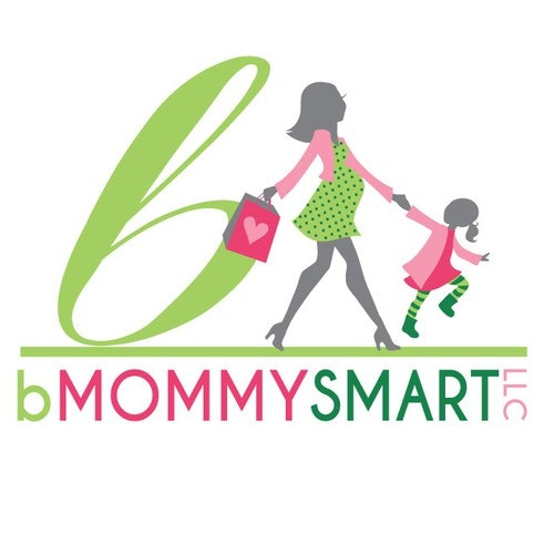 Silhouette logo with the title 'bMommySmart LLC needs a new logo'