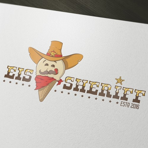 Mustache logo with the title 'Eis Sheriff '