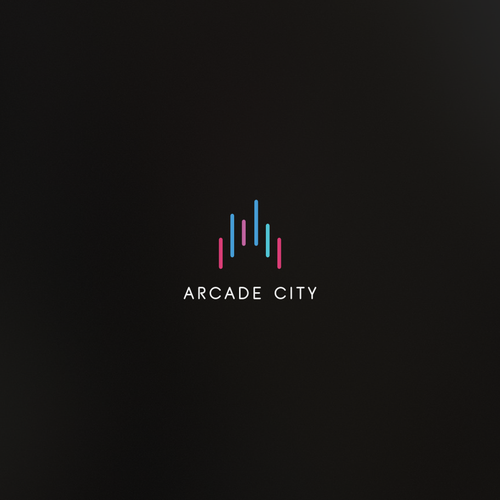 Bright logo with the title 'Arcade City'