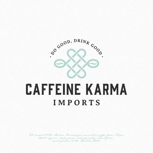 Bean logo with the title 'Caffeine Karma'