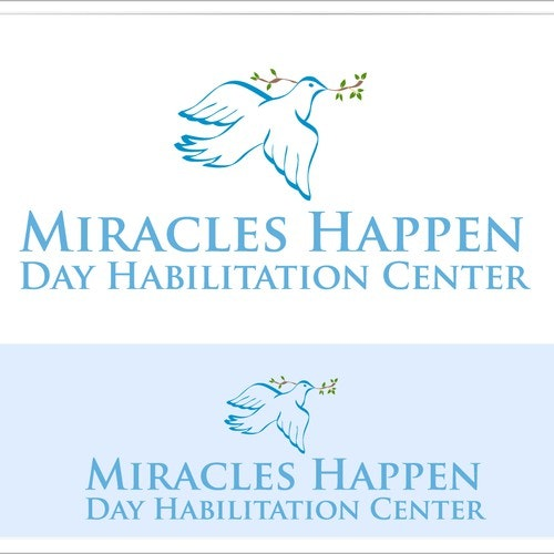 Dove logo with the title 'Miracles Happen Day Habilitation Center needs a new logo'