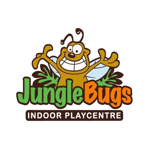 Jungle logo with the title 'JUNGLE BUGS LOGO'