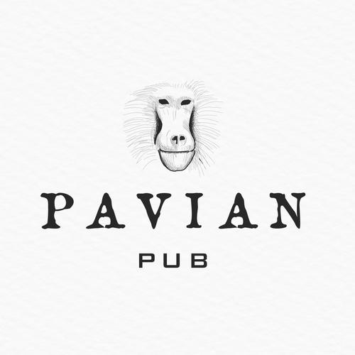 Monkey logo with the title 'pavian pub'