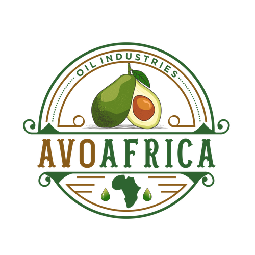 Avocado logo with the title 'Need an eye catchy and out of the box logo for an avocado oil producing company'